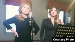 Жылдыз Осмоналиева и Светлана Назаренко во время записи саундтрека.