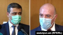 Ազգային անվտանգության տնօրեն Էդուարդ Մարտիրոսյան և Ոստիկանապետ Արմար Սարգսյան