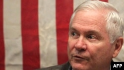 U.S. Defense Secretary Robert Gates during a December trip to Afghanistan