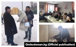 Кубат Оторбаев в ходе визита в специальное учреждение временного содержания иностранных граждан МВД РФ в поселке Сахарово (Московская область).
