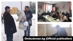 Омбудсмен Кубат Оторбаев в Сахарово.