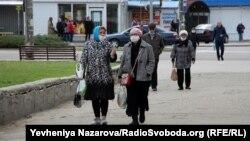 Люди на вулицях Запоріжжя під час карантину, 29 березня 2020 року