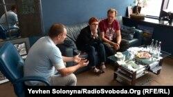 Андрій Вавриш під час інтерв'ю Радіо Свобода