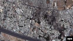 Сателітне фото Дамаска, де тривають бойові дії