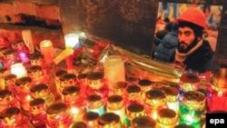 Ուկրաինա - Մոմավառություն Սերգեյ Նիգոյանի հիշատակին, Լվով, 22-ը հունվարի, 2014թ․