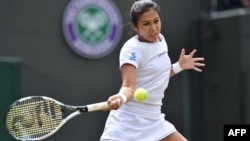 Kazakhstan's Zarina Diyas, who won the Japan Open on September 17 (file photo)