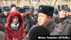 Акция протеста у СИЗО № 1. Бишкек, 16 января 2011 года.