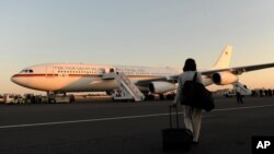 Правительственный самолет Германии в берлинском аэропорту Тегель.
