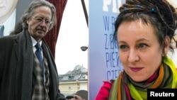 Nobel prize winner for literature 2019 Peter Haudke and Olga Tokarczuk