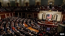 A joint session of the US Congress at the Capitol in Washington DC, 23 Jan 2007