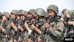 Ауғанстан ұлттық армиясының сарбаздары. Көрнекі сурет.