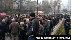 Protest poljoprivrednika ispred zgrade Vlade FBiH, 6. decembar 2012.