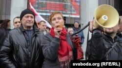 Марына Адамовіч на акцыі пратэсту 1 траўня, ілюстрацыйнае фота
