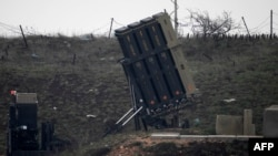 Israeli Iron Dome defense system, designed to intercept and destroy incoming short-range rockets and artillery shells, is deployed in the Israeli-occupied Golan Heights near the Israel-Syria border, March 17, 2017