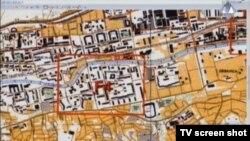 Karta Sarajeva prikazana u sudnici