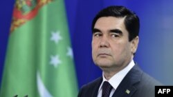 Түркіменстан президенті ГурбангулыБедімұхаммедов. Берлин, 29 тамыз 2016 жыл.