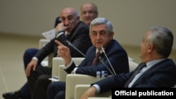 Armenia - President Serzh Sarkisian speaks at a conference on local governments in Dilijan, 9Dec2017.