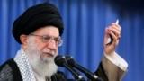 IRAN -- Iranian Supreme Leader Ayatollah Ali Khamenei speaks at a meeting in Tehran, August 13, 2018