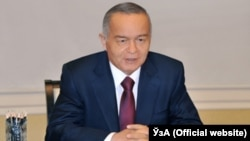 Uzbekistan - President Islam Karimov meets with Kazakh Foreign Minister Erlan Idrisov