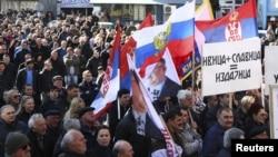 Архивска фотографија: Собир на косовските Срби во Митровица.