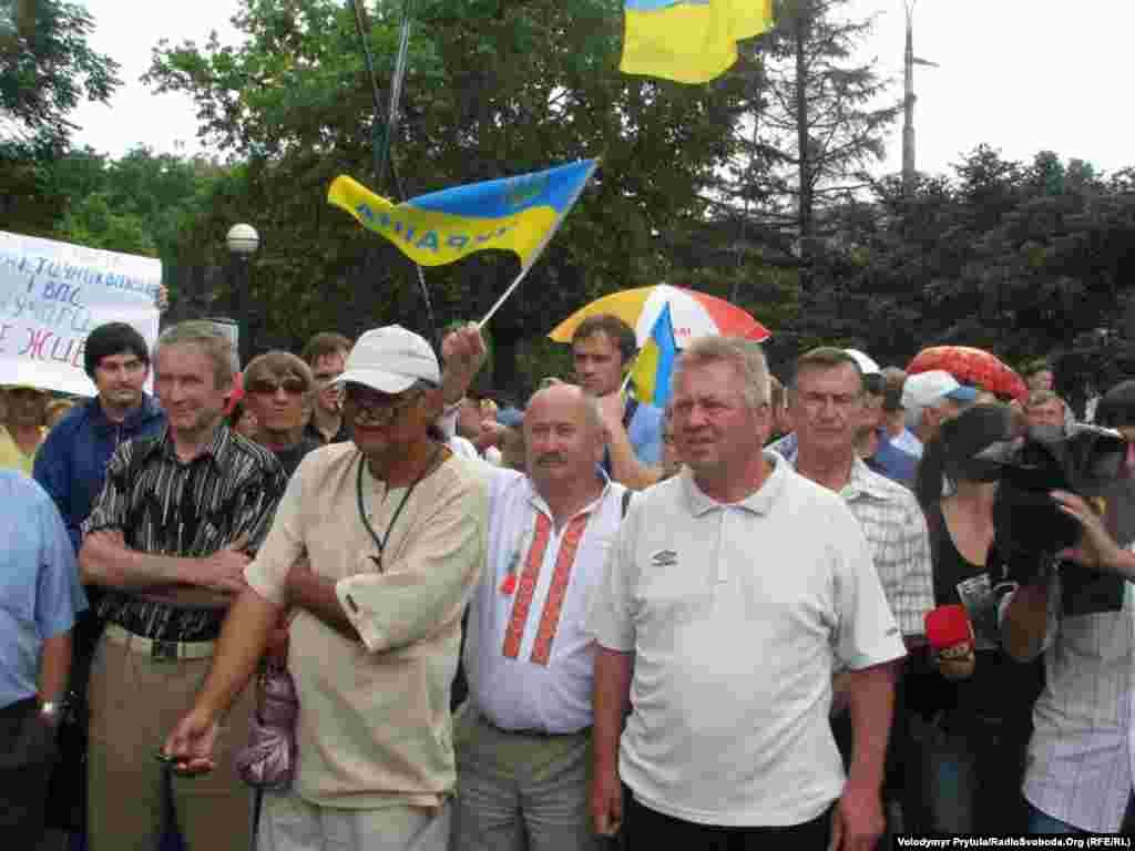 Учасники акції вважають, що українців у Криму дискримінують за мовною ознакою.
