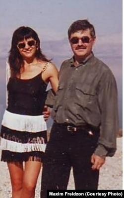 Дмитрий Скигин с женой, 1995
