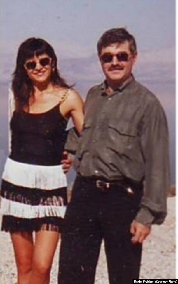 Дмитрий Скигин с супругой в Израиле, 1995