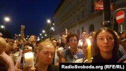 Участники протеста против судебной реформы