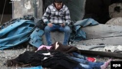 این عکس یکی از تصاویریست که «مرکز رسانهای حلب» به تازگی آنها را منتشر کرده و خبرگزاریها نیز بازنشر دادهاند