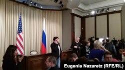 Журналисты в ожидании пресс-конференции
