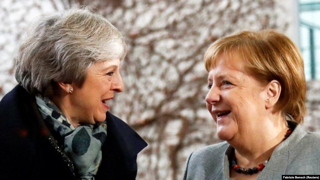 Kancelarja gjermane, Angela Merkel dhe kryeministrja e Britanisë, Theresa May