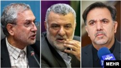 Iranian cabinet ministers (L to R); Ali Rabiei [Labor and Social Welfare], Ali Hojjati [Agriculture] and Abbas Akhoundi [Road and Urban] who have been subjected to parliamentary impeachment.