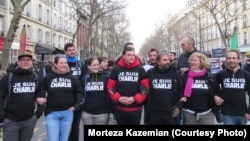 Акция памяти жертв нападения на редакцию французского журнала Charlie Hebdo. 11 января 2015 года.
