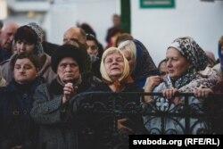 Білоруські віряни під час візиту російського патріарха Кирила
