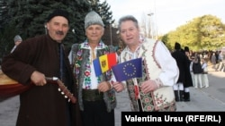 Кишинев. На митинге в поддержку проевропейского курса