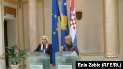 Edita Tahiri i Vesna Pusić u Zagrebu, 16. travnja 2012.