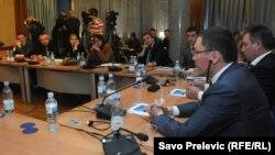 Predsjednik borda direktora KAP-a na saslušanju pred Odborom za kontrolu privatizacije Skupštine Crne Gore, mart 2012.