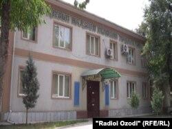 Здание офиса Партии исламского возрождения Таджикистана в Душанбе.