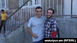 Armenia - Opposition activist Vahagn Ghumashian is released from the Nubarashen prison in Yerevan, 14Sept, 2016