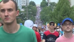 Russia's Far East Sees Largest Protest March To Date
