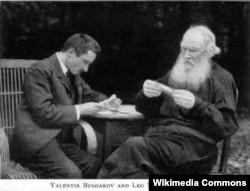 Valentin Bulqakov və Lev Tolstoy, 1910