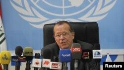 مارتن كوبلر، الممثل الخاص لأمين عام الأمم المتحدة في العراق يتحدث في الإحتفال بذكرى تأسيس المنظمة الدولية