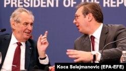 Predsednici Srbije i Češke, Aleksandar Vučić i Miloš Zeman