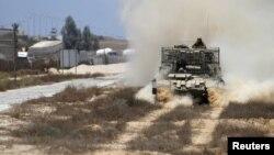 Иллюстративное фото. Израильский военный патруль на границе сектора Газа и Египта.