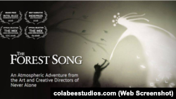 Презентаційна сторінка нової відеогри на сайті компанії-розробника Colabee