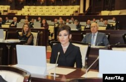 Мехрибан Алиева в парламенте