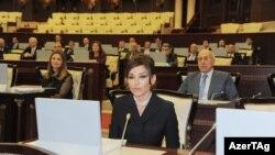 Birinci vitse-prezident Mehriban Əliyeva parlamentdə