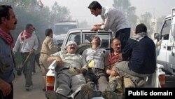 مجروحان درگیریهای پیشین نیروهای عراقی با ساکنان اردوگاه اشرف.