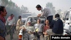 مجروحان درگیریهای پیشین نیروهای عراقی با ساکنان اردوگاه اشرف