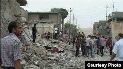 ما بعد انفجار قضاء الطوز، الاثنين 21 آيار 2013.